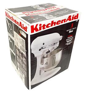 KitchenAid Heavy Duty 10 Speed Mixer White 5 QT Bowl Professional Lift (K5SSWH)