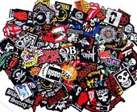Random Lot of Rock Band Patches Iron on Music Punk Roll Heavy Metal Sew Set
