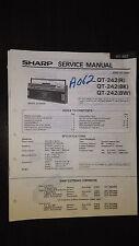 sharp qt-242 Service Manual Original boombox ghettoblaster tape player radio