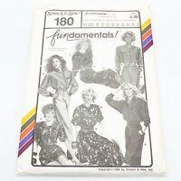 Stretch & Sew Vintage Sewing Pattern #180 FUNdamentals Separates 30-46 / 32-48