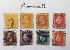 8 Timbres New Zealand oblitéré. 1915/22. King George V. Nouvelle Zélande