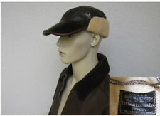 USAF B2 Eastman Leather Cap Flight Cap Sheepskin Größe 7 1/4 WWII US Airforce