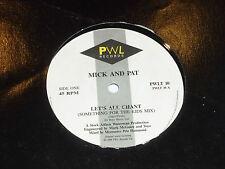 "PAT & MICK - Let's All Chant - 1988 UK 2-track 12"" vinyl single"
