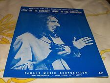 Tiny Tim sheet music Livin' in the Sunlight, Lovin'-Moonlight 1968 5 pages (NM)