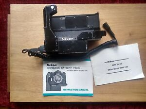 Nikon motor drive F-36 & Cordless Battery Pack with paper work