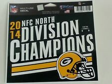"2014 NFC NORTH DIVISION CHAMPIONS GREEN BAY PACKERS MULTI-USE DECAL 4.5"" X 5.75"""