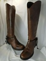 Women's BORN Distressed Brown Leather Boots Shyra in Madorla  Size 10 M / 42