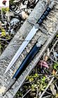 """14"""" Medieval Dagger Stainless Steel Blade with Black Scabbard LOTR Fantasy King"""