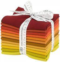 Robert Kaufman Fabrics Kona Cotton Solids Autumn Hues Palette 12 Fat Quarters