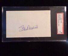 STAN MUSIAL Autographed Signed AUTO INDEX CARD 3X5 HOF D. 2013 CARDINALS FG
