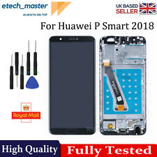 FOR HUAWEI P SMART 2018 LCD REPLACEMENT GLASS ASSEMBLY TOUCH SCREEN BLACK +FRAME