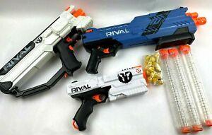 Lot of 3 Nerf Rival Gun Blaster  XVI-1200 MXVII-1200 XVIII-500   TESTED