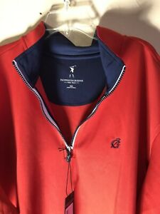 F & G Tech Golf Pullover Long Sleeve Shirt Mens XXL