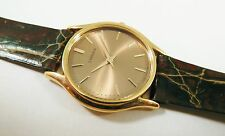 Lassale by Seiko Gold Tone Metal 1N00-3B30 Calfskin Sample Watch NON-WORKING