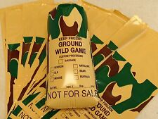 Ground Meat Bags (WILD GAME) 1 pound bag; 2 mil polyethylene 25 count