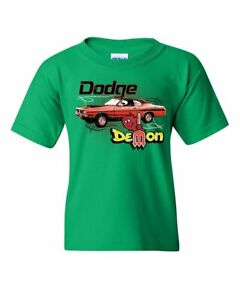 Dodge Demon Youth T-Shirt Route 66 American Made Classic Retro Cars Kids Tee