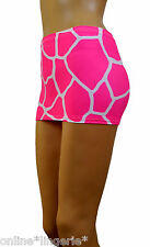 Mini Skirt Micro Short Pink White Animal Giraffe Safari Party Club Bodycon CS141