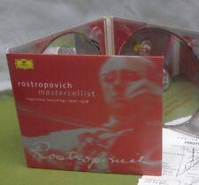 MSTISLAV ROSTROPOVICH Master Cellist autograph 2-CD set signed 2002 cello