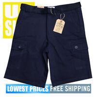 OTB One Tough Brand V2 Men's New WT 6-Pocket Cargo Shorts Navy Blue 40 x 40