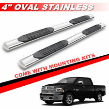 "4"" Chrome Oval Running Boards Side Steps For 2009-2018 Dodge Ram 1500 Crew Cab"