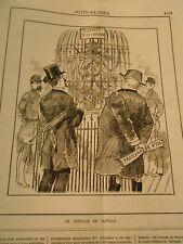 Caricature 1884 -Diamants de la Couronne Le supplice de Tantale