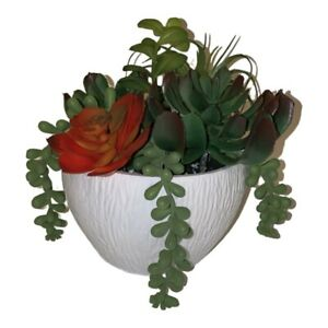 New Artificial Flowers Arrangements Succulent Planter Cactus Centerpiece Floral