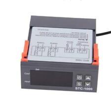 Regulador de temperatura con termostato de pantalla digital dual Controlador de temperatura con sonda NTC doble Calentador Sensor Sonda Dos salidas de rel/é 110-220V