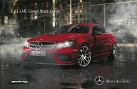 Mercedes-Benz C63 AMG Coupe Black Series V8 Brochure June 2011 Rare In English