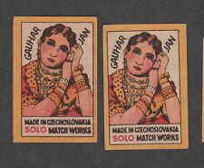 Ancienne   étiquette  allumettes  Tchécoslovaquie  DD7   Gauhar Jan