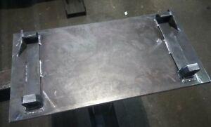 A Set/Pair of Plate Mounted Avant Loader or Handler Brackets. Weld on Bracket.