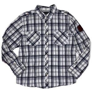 Harley Davidson Men's #1 Skull Plaid Long Sleeve Button Down Shirt, Size 3XL