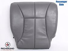 2000 2001 Dodge Ram 3500 SLT Quad -PASSENGER Side Bottom Leather Seat Cover GRAY