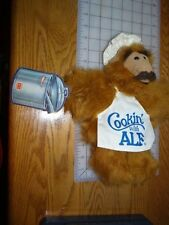 "Vintage 1988 ALF ALIEN Soft Plush Toy Hand Puppet Cookin W Alf original tags 13"""