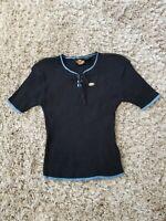 Vintage Harley-Davidson Women's Sweater Shirt Top Sz Med Navy Blue