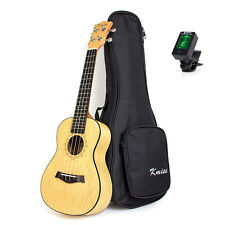 23 Inch Kmise Concert Ukulele Hawaii Guitar with Bag and Tuner Professional