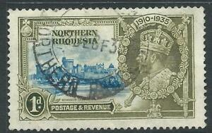 Northern Rhodesia 1935 KGV Silver Jubilee 1d VFU stamp