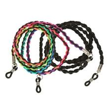 BLACK OR MULTI-COLOURED READING SUNGLASSES BRAIDED CORD NECKLACE GLASSES HOLDER,