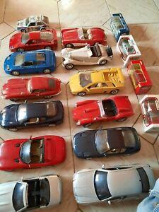 Lotto17 auto,12 Burago,1/18, Ferrari F40 Polistil,Chrysler e SLK Maisto,2 1/43