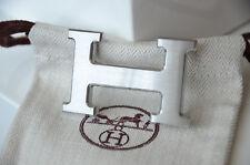 Hermès authentique BOUCLE de CEINTURE 32 mm H Argent Brossé seulement Boucle
