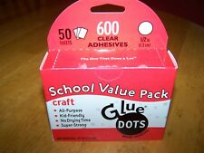 """Glue Dots Craft 1/2"""" School Value Pack 600 clear double sided adhesives 50 sheet"""