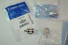 L-Com RF/Coaxial Adapter SMA Jack-N Plug Lot of 3 Model# BA34