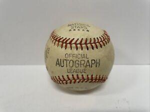 Vintage 60's National Stars Facsimile Autograph Baseball Nelson Fox Ernie Banks