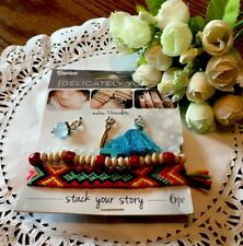 Darice Delicately Yours Stack Your Story Cross Feathers Stone Symbol 6 Pc New!