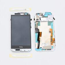 Original HTC One M8 Lcd Display TouchScreen Glas Rahmen + Werkzeug - Weiß/Silber
