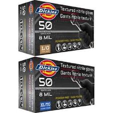 Dickies 8 Mil Powder-free Disposable Black Nitrile Gloves, 250 Count - X-Large