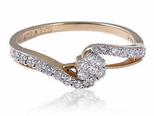 Pave 0.46 Cts Natural Diamonds Engagement Ring In Fine Certified 18K Yellow Gold