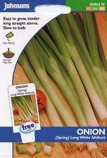 Johnsons - Vegetable - Onion (Spring) Long White Ishikura - 375 Seeds