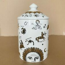 New Vintage Style Ceramic Jar Candle Holder With Lid For Home Art Decoration