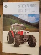 Prospekt SalesBrochure Steyr 900 Technische Daten Traktoren 964 970a Landtechnik