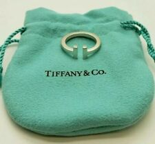 Tiffany & Co. Sterling Silver T Square Ring Band Ring Size 6